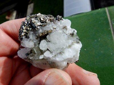 """Minerales """" Bonitos Cristales De Calcopirita De El Hamman  Marruecos - 12B17 """" 5"""