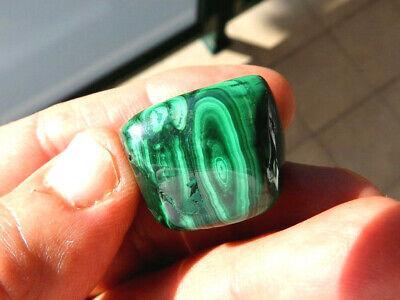 """Minerales """"  Extraordinario Mineral De Malaquita Rodada Del Congo  -  6C16 """". 3"""