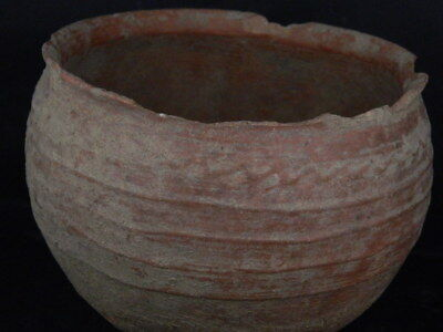 Ancient Large Size Teracotta Drinkging Cup Bactrian 300 BC #Ik517 3