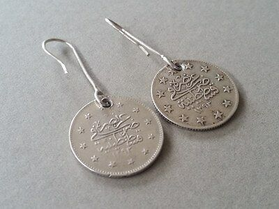 RARE Antique Silver Handmade 19th. Century from Year 1877-1293 Ottoman EARRINGS 6