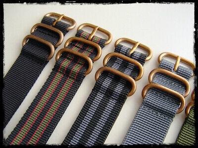 Cinturini ZULU Bronze misure: 20-22-24. Nylon Zulu Straps. ENTRATE!!! 4