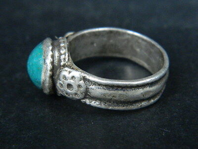 Antique Silver Ring With Stone Post Medieval 1800 AD    #STC478 4