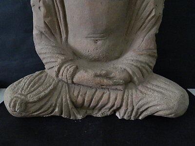 Ancient Huge Size Stucco Sitting Bodhasattva Gandhara/Gandharan 200 AD  #IK846 3