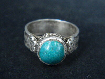 Antique Silver Ring With Stone Post Medieval 1800 AD    #STC478 3