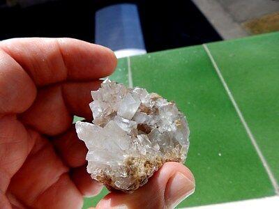 """Minerales """" Bonitos Cristales Biterminados De Celestina De Puente Tablas- 8D17 """" 4"""