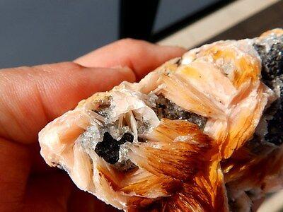 """Minerales """" Bonitos Cristales De Barita+Galena+Cerusita De Marruecos  -  6A16 """" 2"""