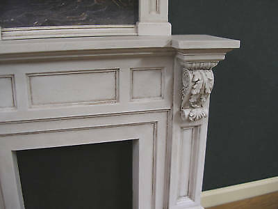 FIREPLACE OVERMANTLE ~ Room Box ~  Dollhouse Miniature ~ 1:12 scale ~ Room Box
