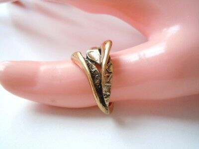 Abstrakter Modernist Ring aus Messing RG 54 / 4,3 g