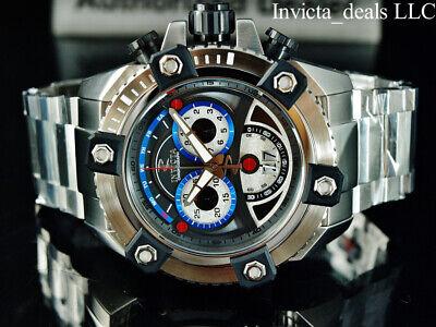 Invicta Men's 63mm Reserve Grand ARSENAL Swiss Chronograph Silver Tone SS Watch 2
