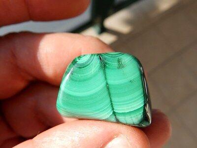 """Minerales """"  Extraordinario Mineral De Malaquita Rodada Del Congo  -  6C16 """". 4"""