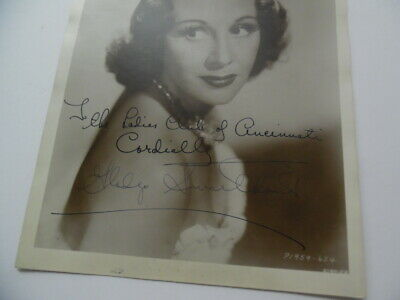 1939 GLADYS SWARTHOUT Signed Inscribed Photo Opera Soprano Movie Actress Vintage 2