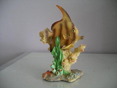 Aquarium Detailed Fish With Coral Base 10 x 6 x 14 cms 2