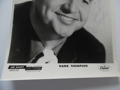 "c.1960s Hank Thompson Signed Inscribed Publicity Photo Capitol Records 8"" x 10"" 4"
