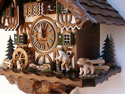 Orginal black forest cuckoo clock  8day music  movement dancing people 2