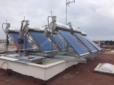 PANNELLO SOLARE TERMICO ACQUA CALDA ACCIAIO INOX 200 LT 20 TUBI tetto inclinato 4