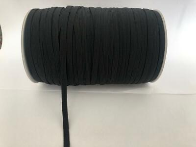 5 Meter length of Black Or White 6mm FLAT Elastic (8 Cord) Excellent Quality 5