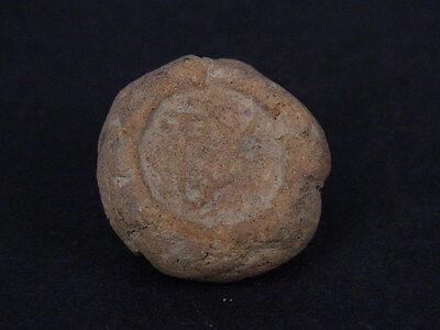 Ancient Teracotta Seal Bactrian C.300 BC No Reserve #Ik591 2