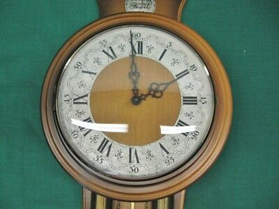 Rare Vintage Tempus Fugit HAID Wall Clock Franz Hermle Movement Made In Germany 3