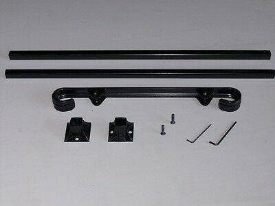 """24""""  A-Justa-Rail with mounting shoe Wrought Iron stair Railing step grab Steel 2"""