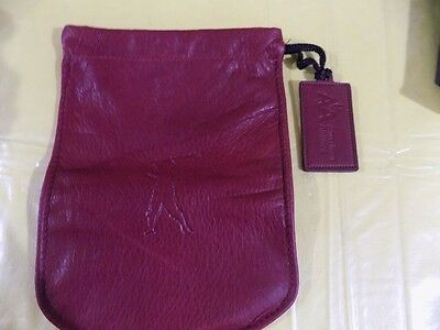 American Airlines Leather Drawstring Pouch 2