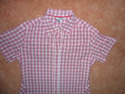 McKinley Damen-Wanderhemd-Outdoorhemd Kurzarm Bluse Palmera Stretchmaterial blau