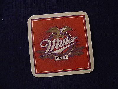Beer Coaster ~ MILLER Brewing Co Lite ~ Original Light Brew in Steinie Bottle