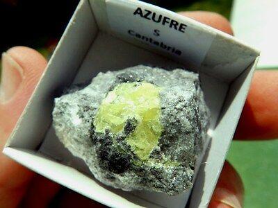 """Minerales """" Fantasticos Cristales De Azufre Nativo Laredo (Cantabria) -  6A16 """" 3"""