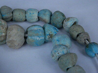 Ancient Fience Beads Strand Egyptian Roman 200 BC #BD15001 5