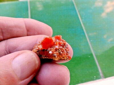 """Minerales"""" Fantasticos Cristales Biterminados De Vanadinita Marruecos-1B19 """" 2"""