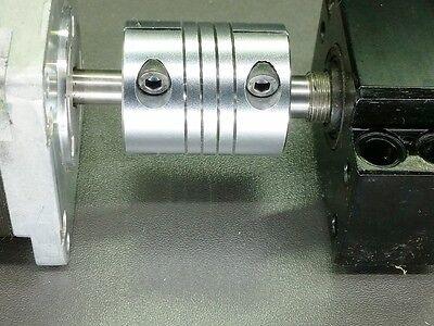 "1//4/"" x 3//8/"" Flexible Ballscrew Shaft Clamp Coupler Coupling Linear Motion 6.35mm"