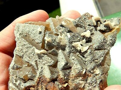 "Minerales "" Fantasticos Cristales Cubicos De Fluorita De Mina Moscona -  8A16 "" 7"