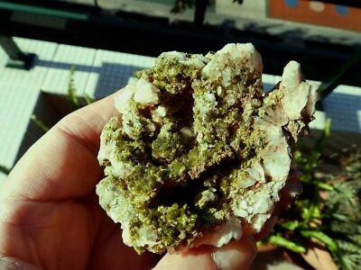 """Minerales"""" Extraordinarios Cristales Arracimados De Epidota De Marruecos-10D18 """" 5"""