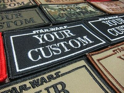 STARWARS CUSTOM NAME Tapes Name brand Military Embroidery Patch