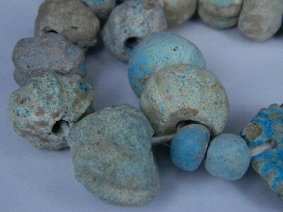 Ancient Fience Beads Strand Egyptian Roman 200 BC #BD15001 3
