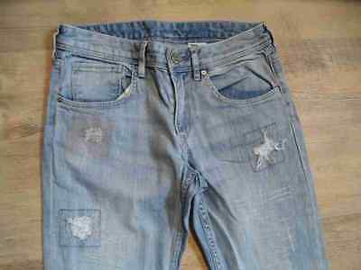 H&M coole skinny used destroyed Jeans blau Gr. 158 NEUw.  HS717 2
