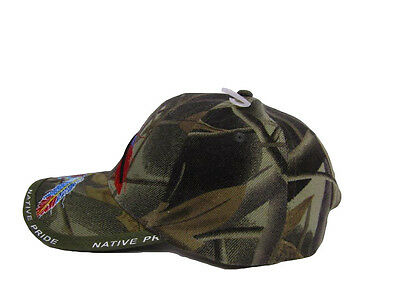 2df6356d609 ... Native American Feather and Beads Native Pride Indian Shadow Camo Ball  Cap Hat 3