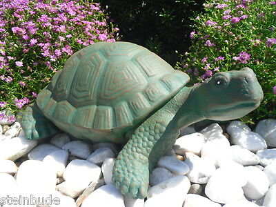 Steinfigur Schildkröte Gartenfigur Gartendeko Geschenk Figur Tierfigur
