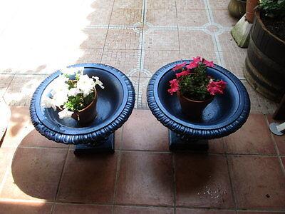 Jardineras De Hierro Fundido Antiguas Restauradas En Color Azul / Antique Fused 9