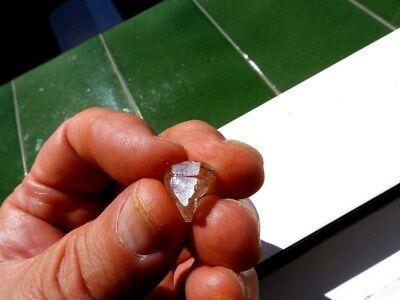 "Minerales "" Precioso Cristal De Topacio Azul  De Tanzania  -  8H17 "". 5"