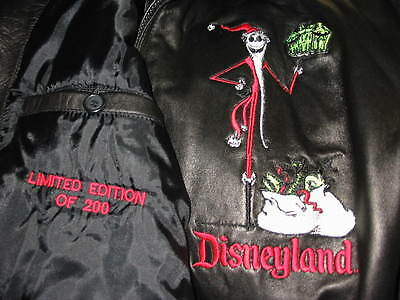 ... LE Haunted Holiday Mansion Event Nightmare Before Christmas Leather Jacket Sz Md 6