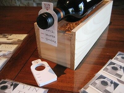 Wine Bottle Collection, Storage/ID Tags - Vin Tags - 20 packs of 50 bottle tags.