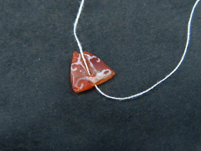 Ancient Etch Carnelian Bead Roman 200 BC No Reserve #BE5058 2
