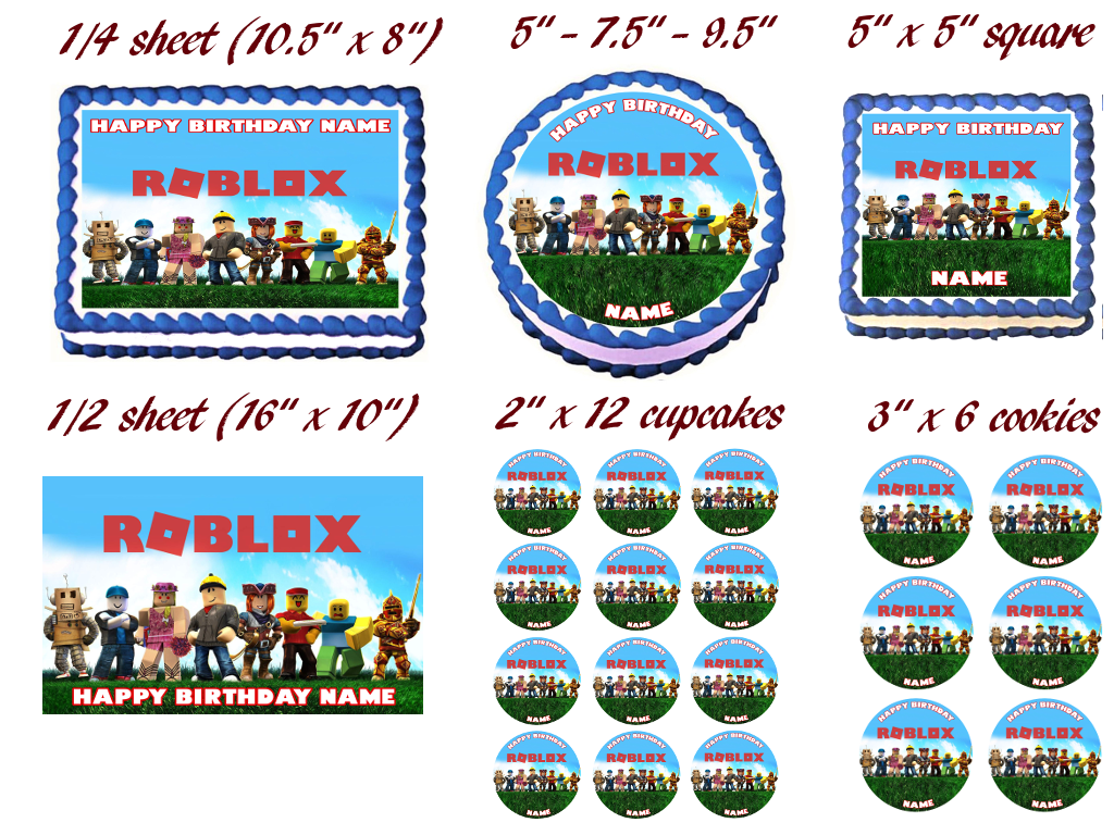 Roblox Party Edible Cake Topper Image 650 Picclick Roblox Party Edible Cake Topper Image 6 50 Picclick