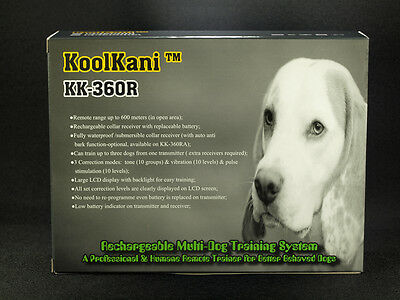 FOR THREE 3 DOGs KoolKani 650Yds Rechargeable Waterproof Remote Training Collar