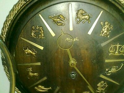 1950s kienzle zodiac wall clock with key