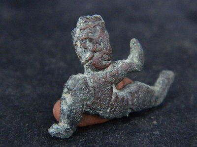 Ancient Bronze Figure Roman 200 BC No Reserve  #GL1624 3