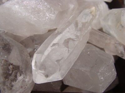 500 Carat Lots of Unsearched Quartz Crystal Points + a FREE faceted gemstone 3