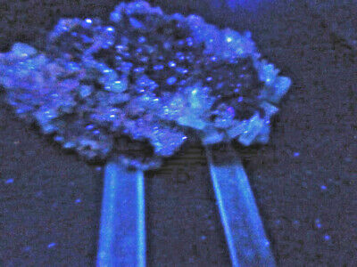 "Minerales""Extraordinarios Cristales Barita Azul Mina Moscona Asturias - 8A13"" 4"