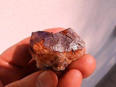 """Minerales """" Extraordinarios Cristales De Fluorita Azul De Marruecos  -  9C16 """" 2"""