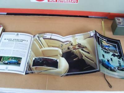Depliant Originale Rolls Royce Corniche Silver Spur Spirit Promo Brochure